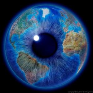 World in eye